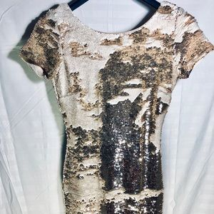 Ark & Co Gold Sequin Mini Dress,  Small, HOT!